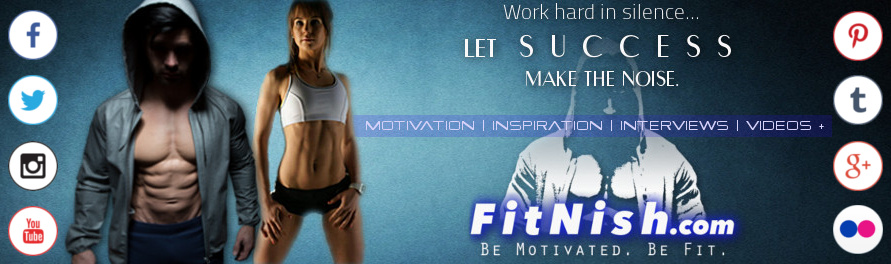 Fitnish Banner With social media