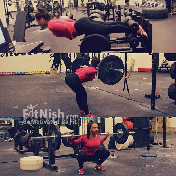 Fit Girl Squatting
