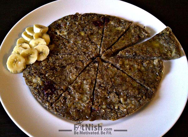 Nutritious And Healthy Breakfast Pancake Pizza