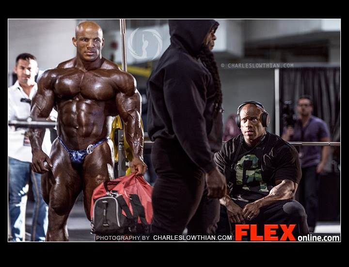 phil heath stares at kai greene