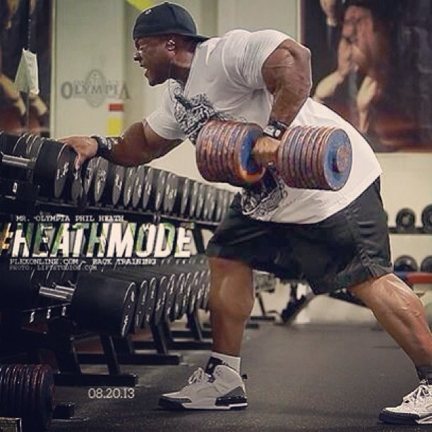 Phil Heath Trains back