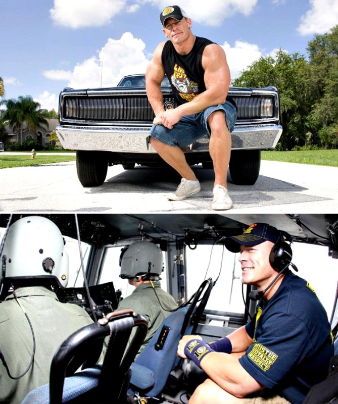 John cena muscle car helicopter