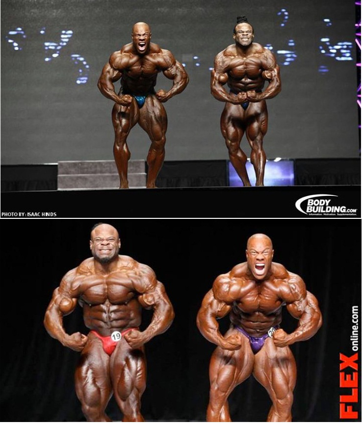 Phil heath kai greene posing