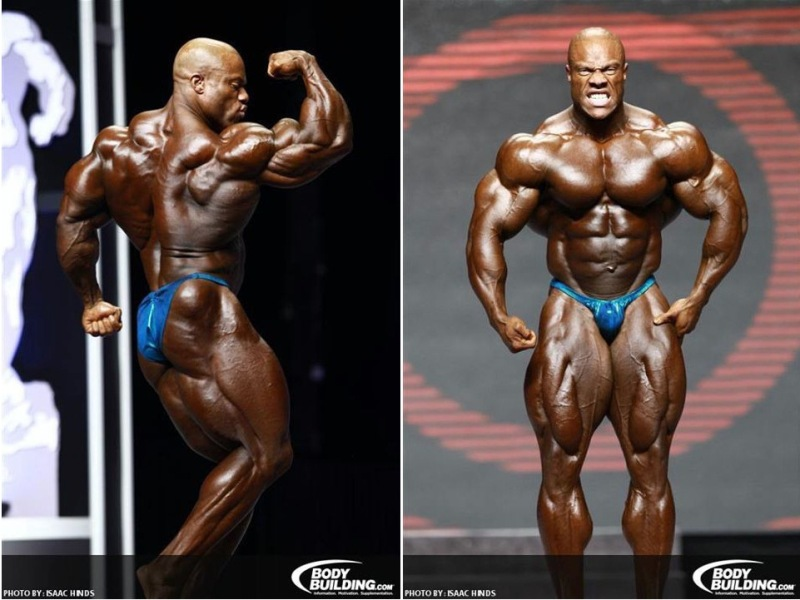 Phil heath posing olympia
