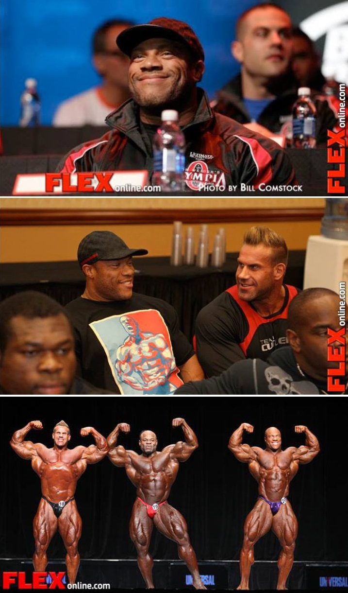Phil heath smile jay cutler kai greene posing