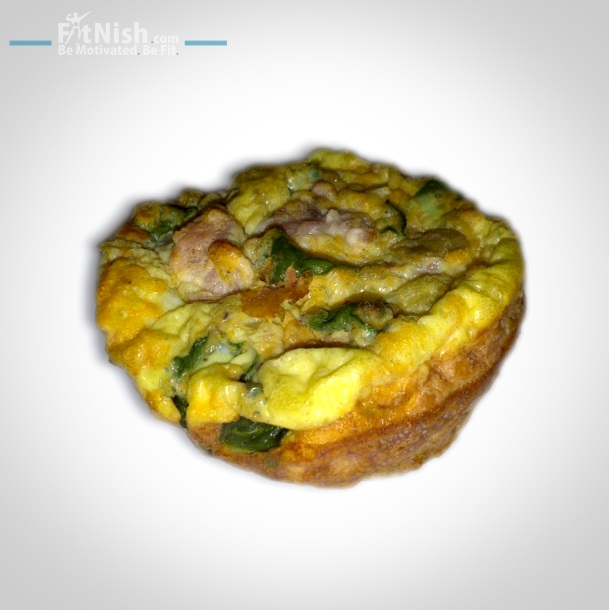 Egg, spinach healthy muffin