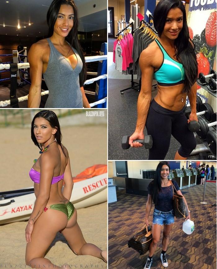 Brazilian Fitness Model & WBFF Pro, Gabi Castrovinci   Training Clips   Pictures