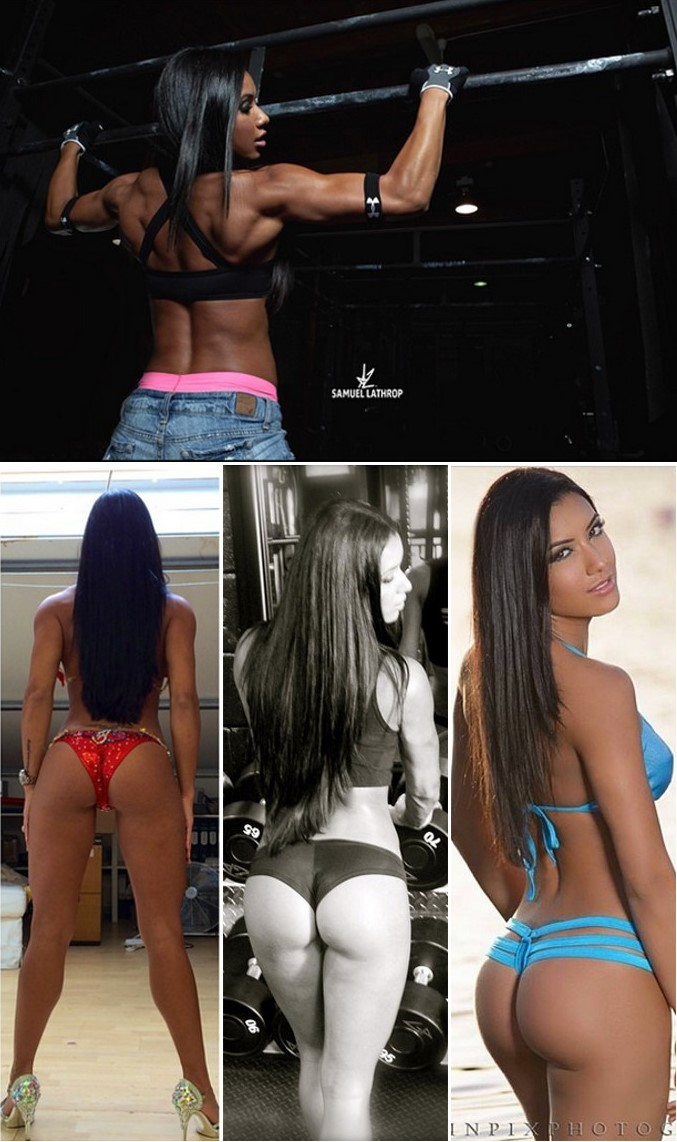 Brazilian Fitness Model & WBFF Pro, Gabi Castrovinci | Training Clips | Pictures