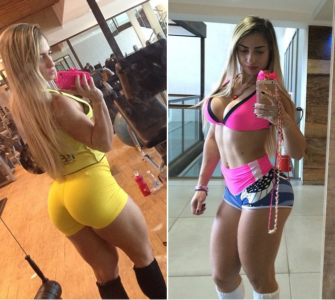 Brazilian Fitness Model, Priscila De Freitas| Training Clips | Pictures