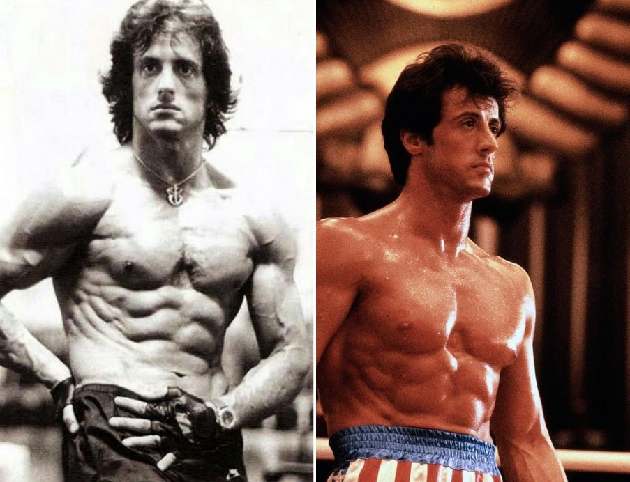 Sylvester Stallone Muscle Building