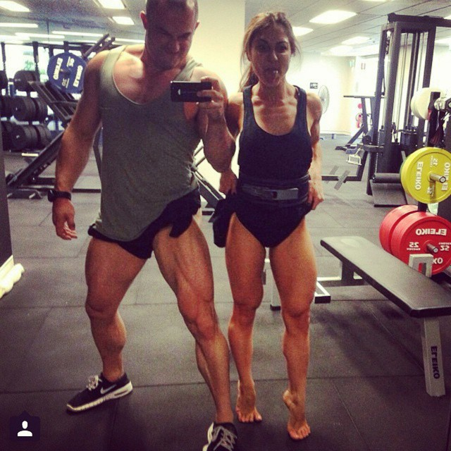 #Flexfriday !! Leg flexing together! @dinnyj @australianstrengthcoach ?? #fitcouple #instafit #squats #begreat #fitgirls #girlswithmuscle #girlswithabs #girlsthattrain #quads #squats #girlsthatsquat #workhard  #bodybuilding #nevergiveup #work #workyourassoff  #motivation #BEMOTIVATED #gymmotivation #rippedphysique #quotes #quote #succeed #success  #fitness #bestrong ??