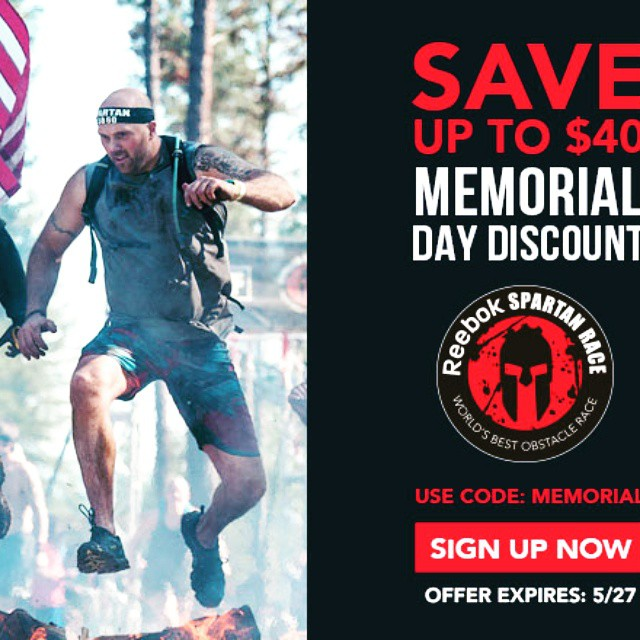 Want to win a free entry to a #spartanrace ? Click the link to see how! ?? #BEMOTIVATED #gymmotivation #obstaclerace #giveaway #memorialday #success  #fitness #bestrong  #spartans #beabeast