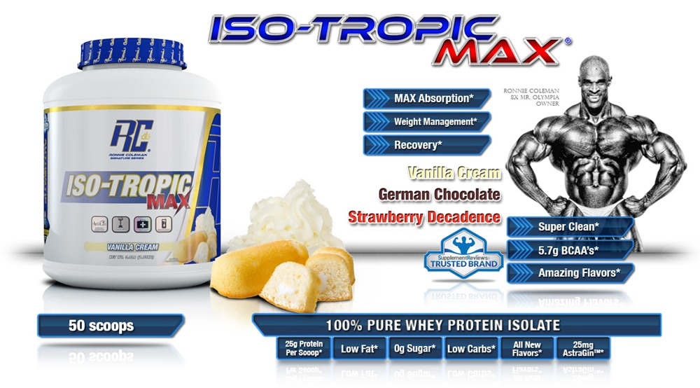 Ronnie Coleman's ISO-TROPIC MAX Whey Protein Isolate Review