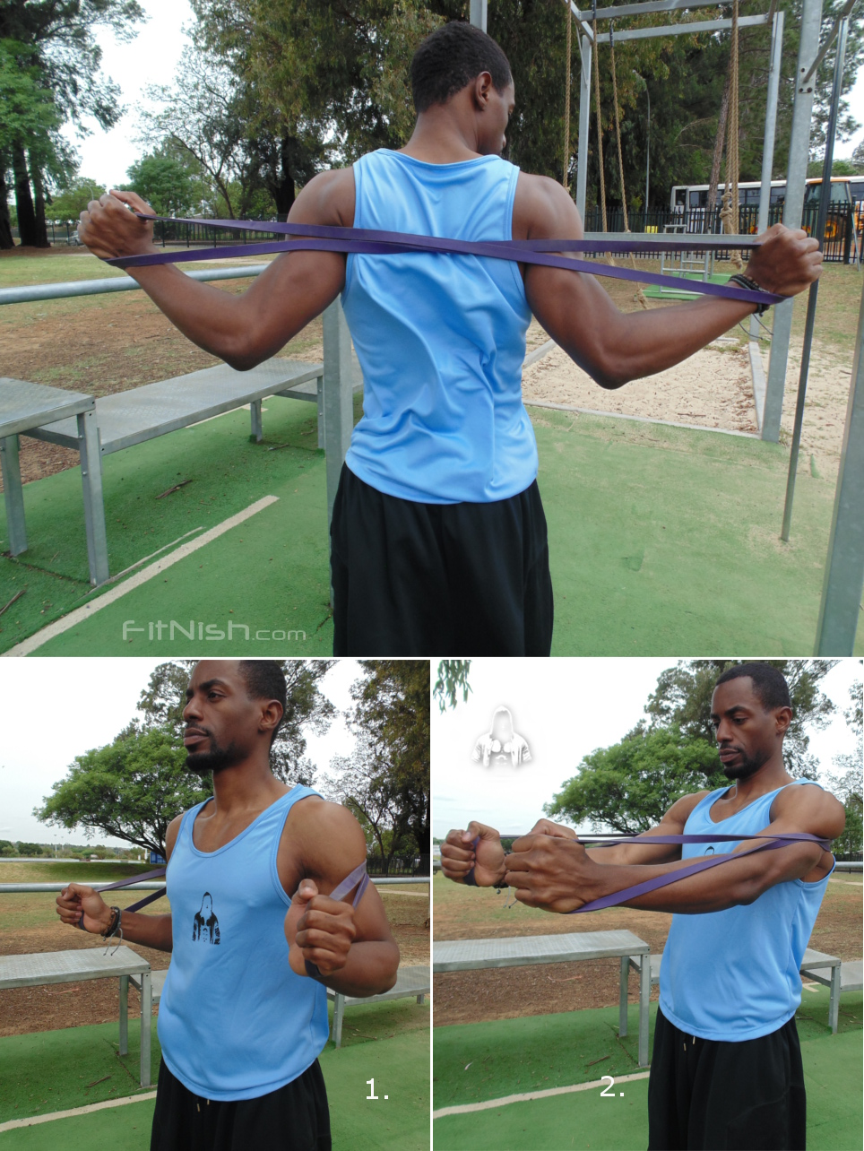 how to do band assisted chest press