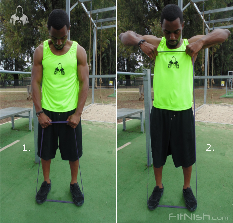 how to do band assisted shoulder rows