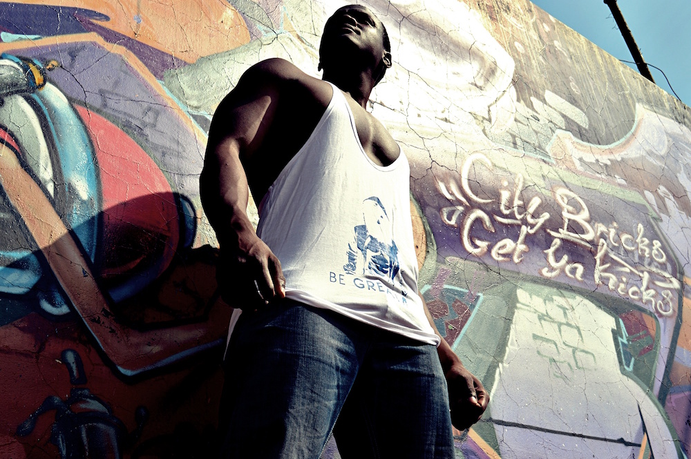 Colour Your Way To Fit! Outdoor Shoot With Freddy graffiti
