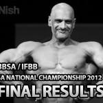 BBSA IFBB SA National Championship 2012 - Final Results