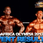 The All Africa Olympia Bodybuilding and Fitness Competition 2012, Results