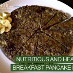 On The Go Nutritious And Healthy Breakfast Pancake Pizza