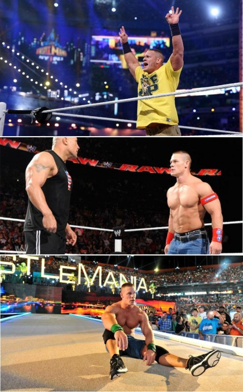Jon cena the rock wrestlemania