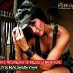 One On One NABBA WFF Womens Fitness Champion, Cat Buys Rademeyer