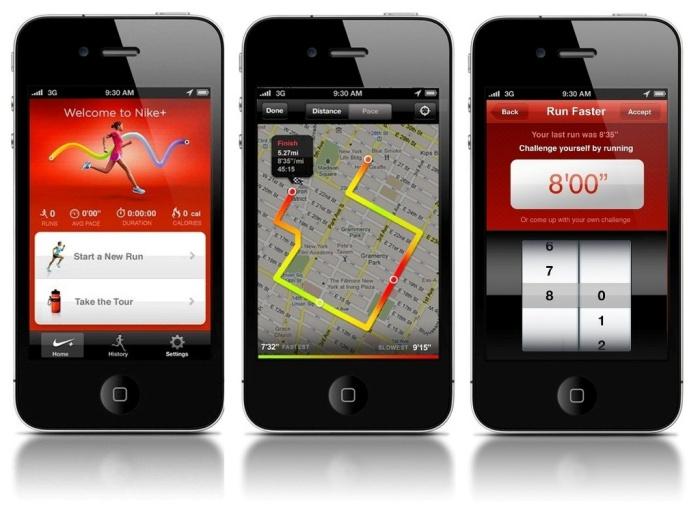nike run app gps map