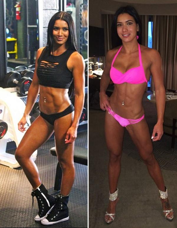Brazilian Fitness Model & WBFF Pro, Gabi Castrovinci | Training Clips | Pictures