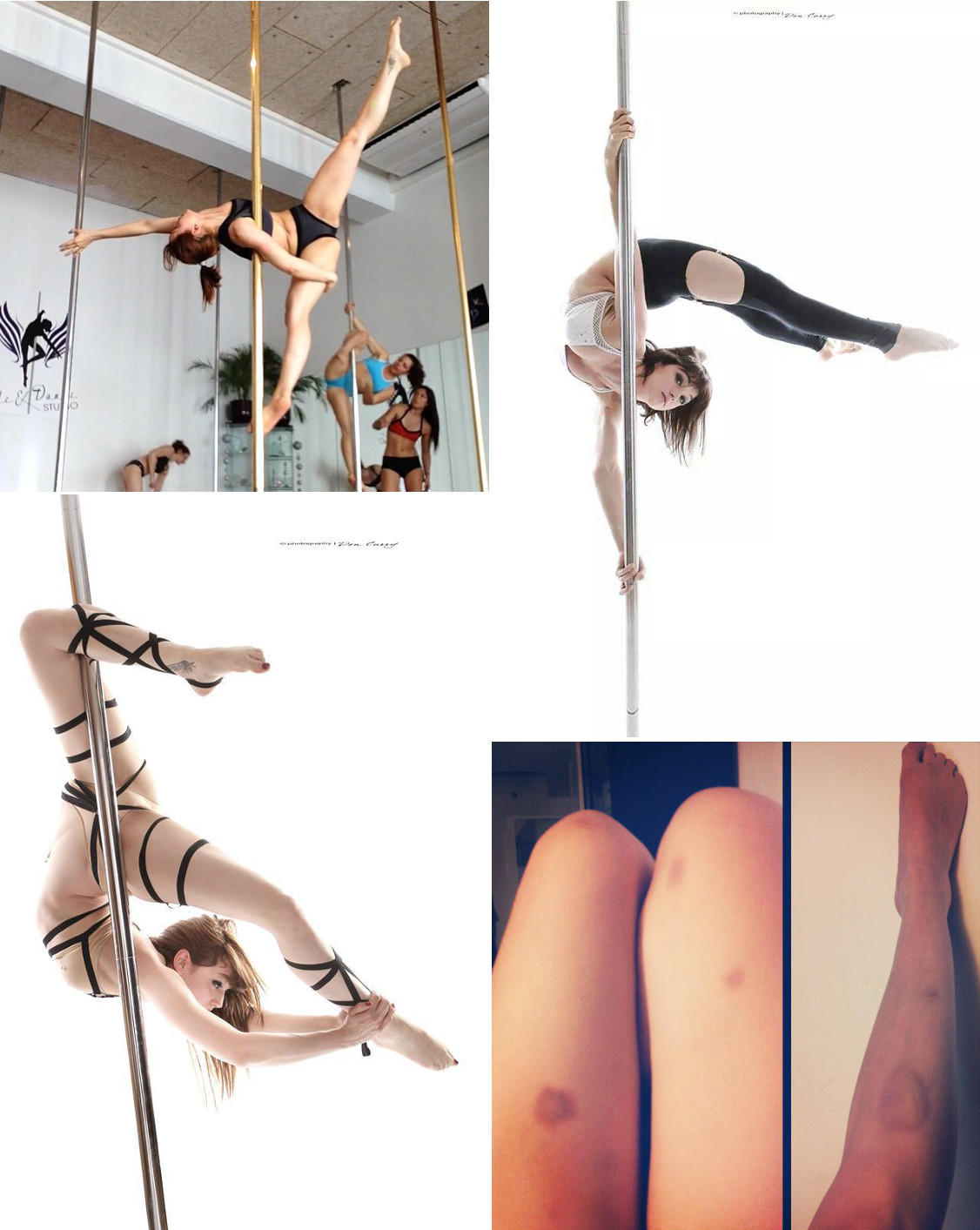 Excercise with stripper poles