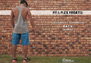 Fit & Flex Fridays! Calisthenics + Bodybuilding Back workout