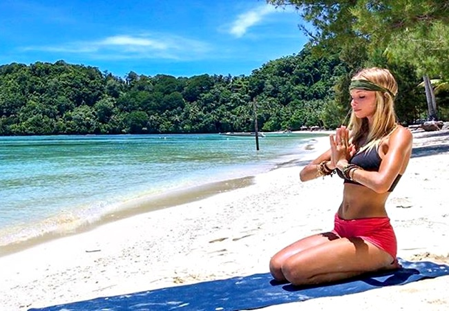 Yoga, Pilates Workout For Your Core ♥ Beautiful Sunset Core Toning By Boho Beautiful