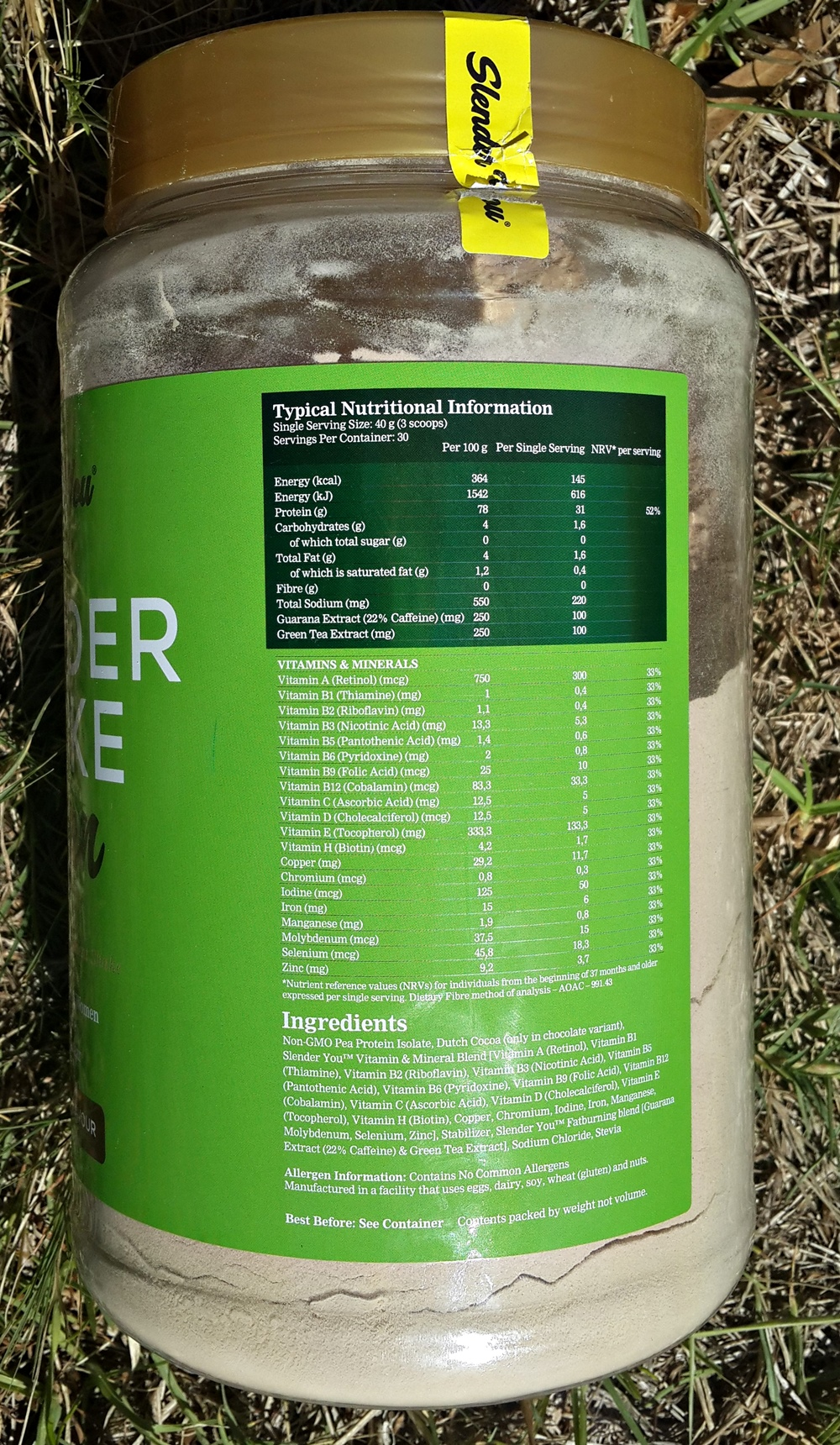 Slender You Pea Protein Powder Review