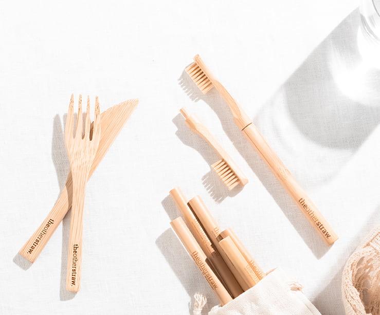 plastic free july bundle bamboo toothbrush