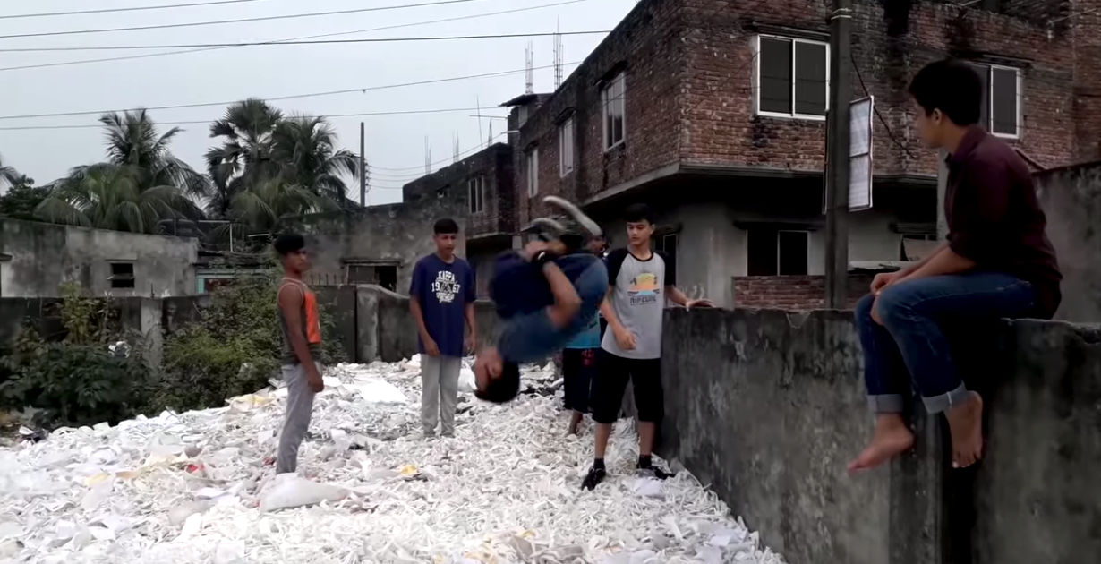 Incredible Motivation By These Bangladesh Acrobats [From Garbage to Gym]!
