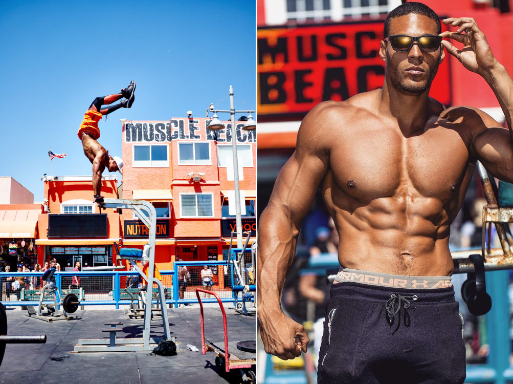 "Ike Catcher Who Is A 6'9"" ft Tall Calisthenic Bodybuilder Takes Us Through A Muscle Beach Workout!"