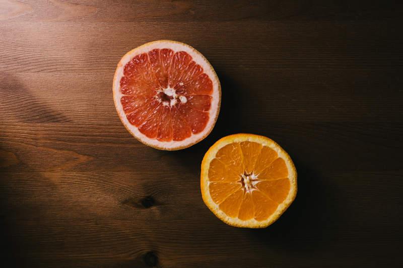 vitamin c orange slice